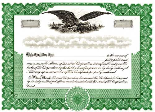 Florida Business Filings Forms Florida Secretary Of State - Corpex stock certificate template