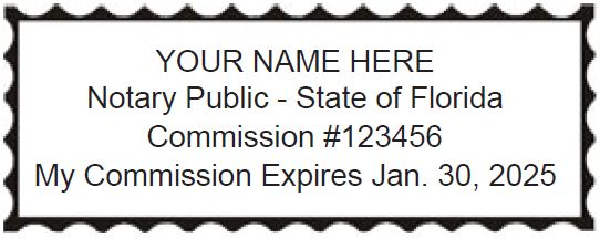 Click The Picture To Order a Florida Notary Stamp